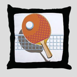 Table Tennis Throw Pillow