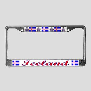 Iceland License Plate Frame