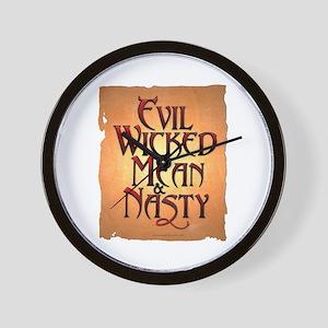 Evil Wicked Wall Clock