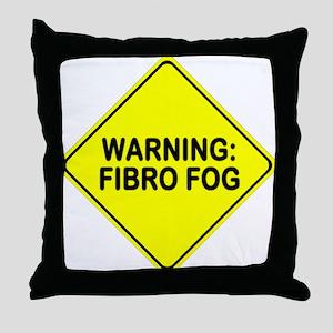Warning: Fibro Fog Throw Pillow