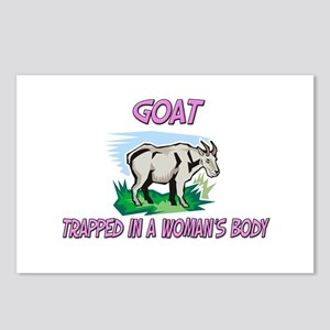 Goat Trapped In A Woman's Body Postcards (Package