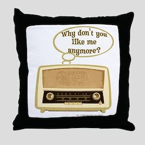Sad Radio Throw Pillow