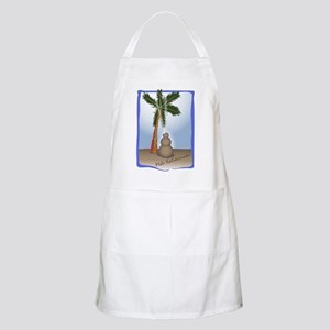Palm Tree & Sand Woman BBQ Apron