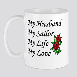 My Husband Sailor Life Love Mug