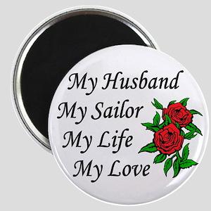 My Husband Sailor Life Love Magnet