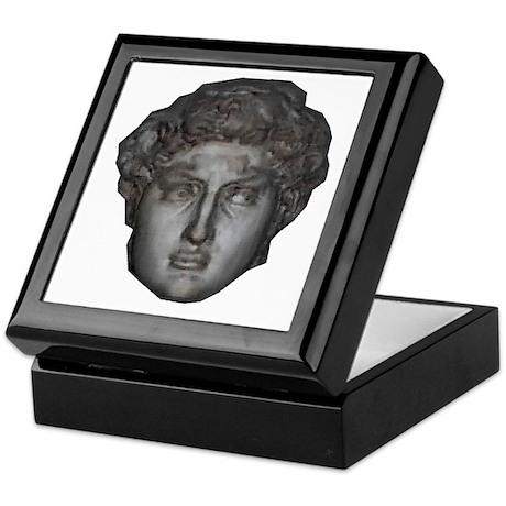 David's head by Michelangelo Keepsake Box
