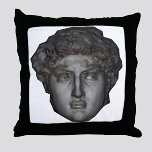 David's head by Michelangelo Throw Pillow
