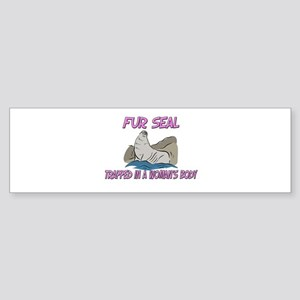 Fur Seal Trapped In A Woman's Body Sticker (Bumper
