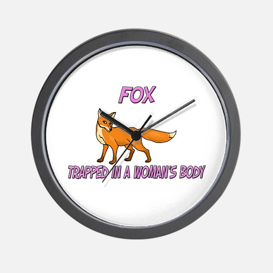 Fox Trapped In A Woman's Body Wall Clock