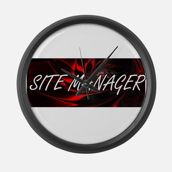 Site Manager Professional Job Des Large Wall Clock