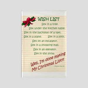 Wish List Rectangle Magnet