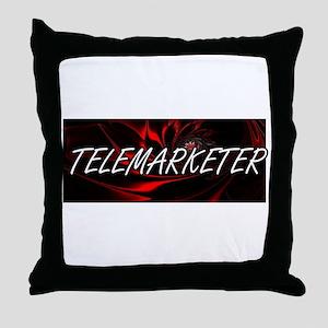 Telemarketer Professional Job Design Throw Pillow