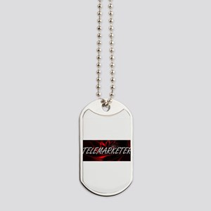 Telemarketer Professional Job Design Dog Tags