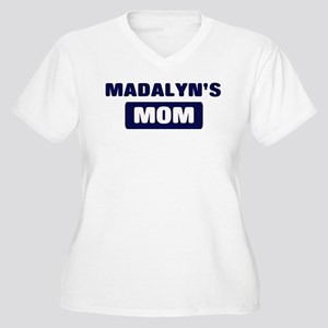 MADALYN Mom Women's Plus Size V-Neck T-Shirt