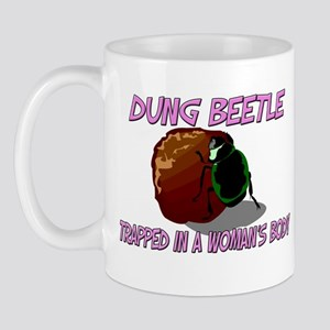 Dung Beetle Trapped In A Woman's Body Mug