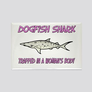 Dogfish Shark Trapped In A Woman's Body Rectangle