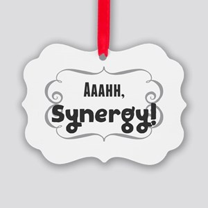 Aaahh, Synergy! Picture Ornament