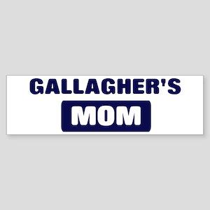 GALLAGHER Mom Bumper Sticker