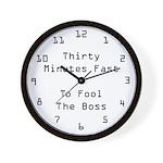 30 Minutes Fast Wall Clock