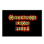 Greetings From Hell Postcards (Package of 8)