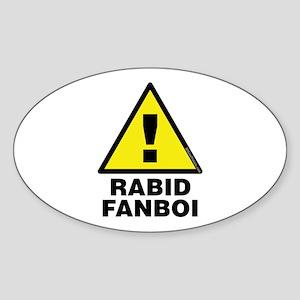Rabid Fanboi Alert Oval Sticker