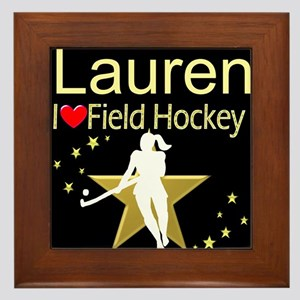 HOCKEY GIRL Framed Tile