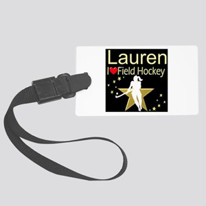 HOCKEY GIRL Large Luggage Tag