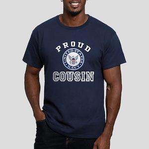 Proud US Navy Cousin Men's Fitted T-Shirt (dark)