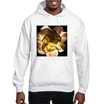 White Carnation Hooded Sweatshirt