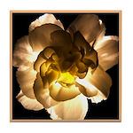 White Carnation Tile Coaster