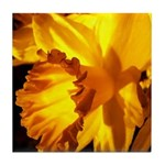 Yellow Daffodil Tile Coaster