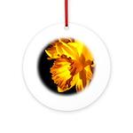 Yellow Daffodil Ornament (Round)