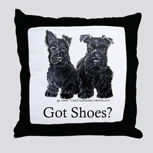 Scottie Puppies - Got Shoes Throw Pillow