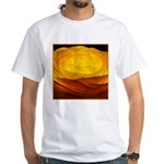 Yellow Ranunculus White T-Shirt