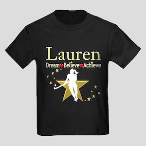 HOCKEY GIRL Kids Dark T-Shirt