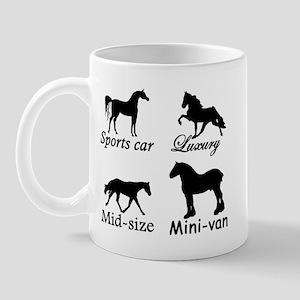 Horse Cars Mug