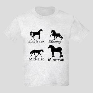 Horse Cars Kids Light T-Shirt