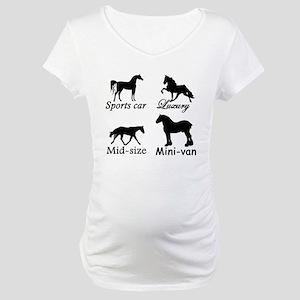 Horse Cars Maternity T-Shirt
