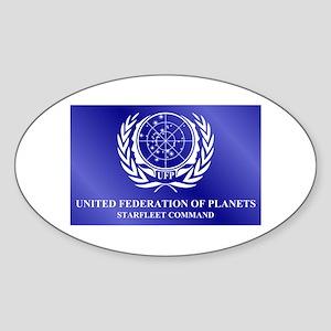 STAR TREK UFP-SFC Sticker (Oval)
