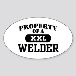 Property of a Welder Oval Sticker