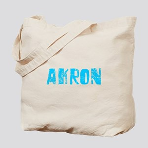 Akron Faded (Blue) Tote Bag