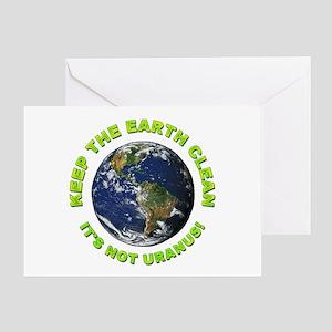 Keep the Earth Clean Greeting Card