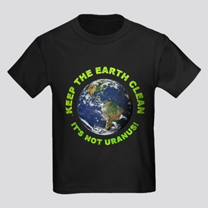 Keep the Earth Clean (Front) Kids Dark T-Shirt