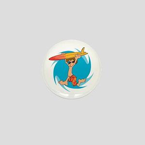 Surf's Up Mini Button