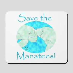 Save the Manatees Mousepad