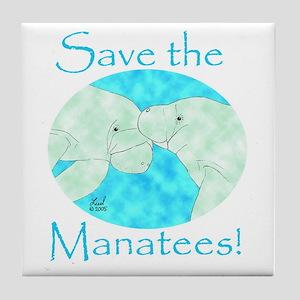Save the Manatees Tile Coaster