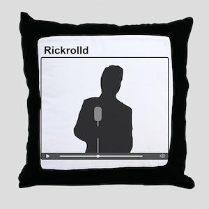 Rick Roll Throw Pillow