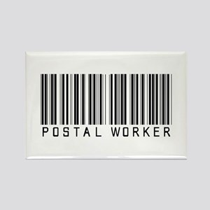 Postal Worker Barcode Rectangle Magnet