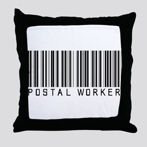 Postal Worker Barcode Throw Pillow
