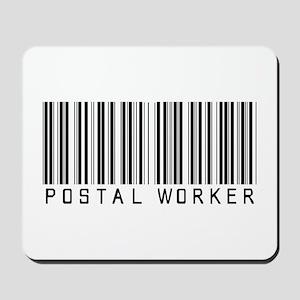 Postal Worker Barcode Mousepad